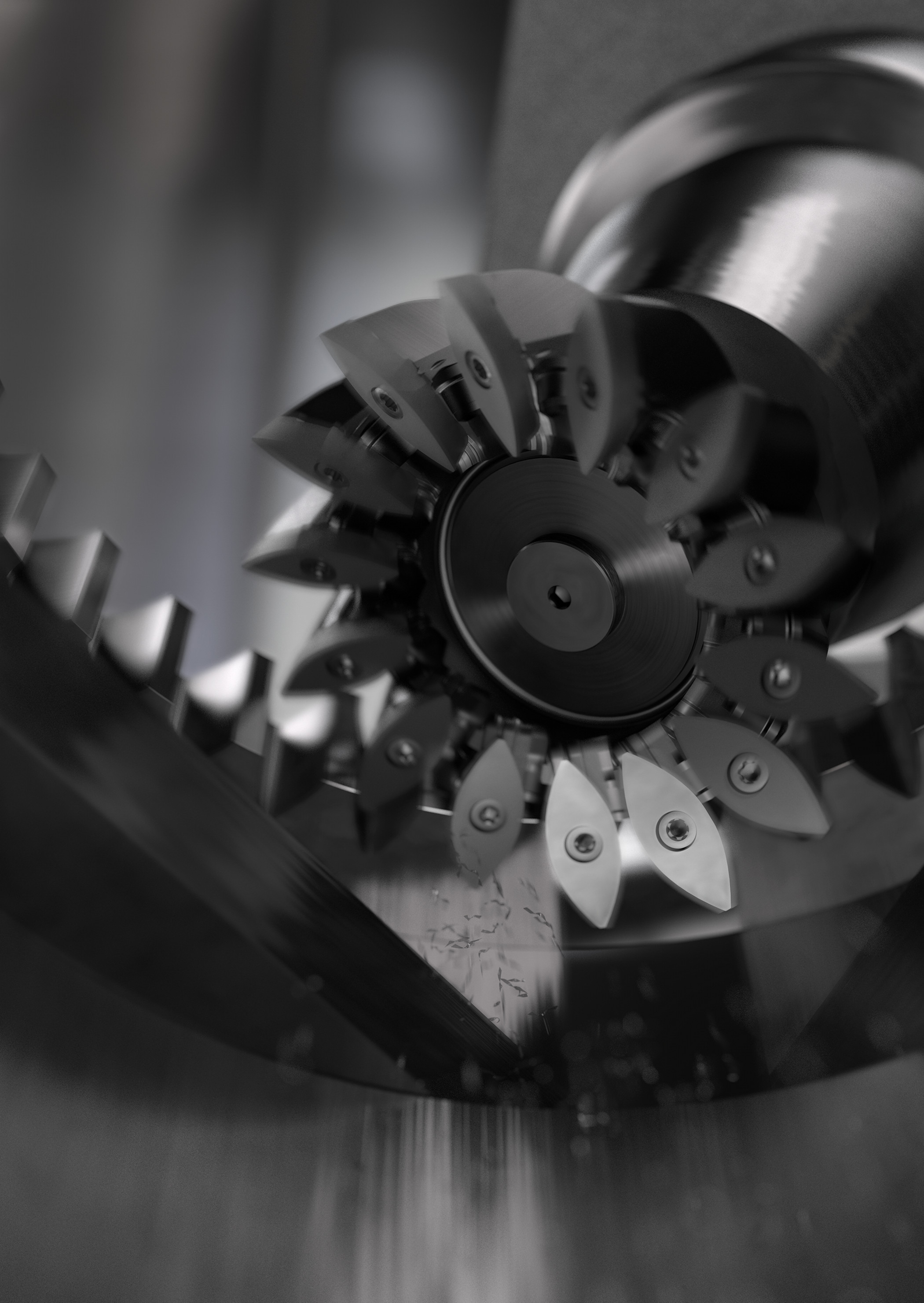 Power skiving, with tools like CoroMill® 180 indexable power skiving cutter, enables all machining to be carried out in one single set-up.