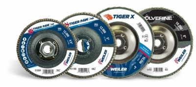 Weiler Abrasives has expanded its Tiger and Wolverine flap disc offering. The expansion includes 4.5-inch high density discs in a conical...