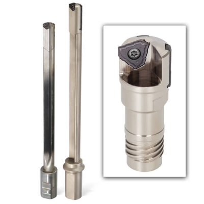 Ingersoll offers 3-Edged indexable deep hole drilling tools. The TPHT insert has three full cutting edges while the LPHT insert (for smal...