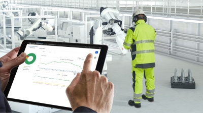 ABB's RobotStudio offline programming and simulation software has been upgraded with a new virtual robot braking distance function de...