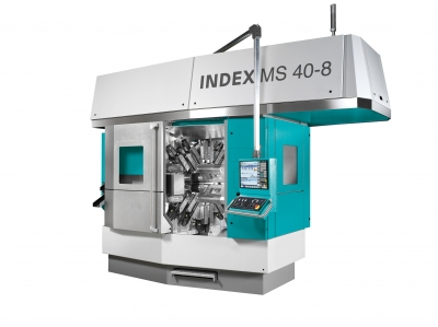 Index (Booth S-338136) will introduce its MS40-8 multispindle automatic lathe with 8 CNC spindles, two back-working spindles for rear-end...
