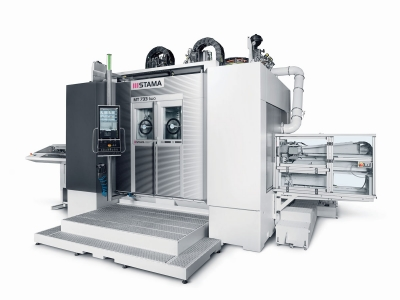 The MT 733 series from Stama (Chiron Group) allows all six sides of a workpiece to be machined on a single five-axis center. The machinin...