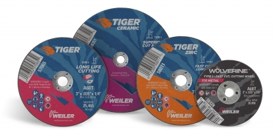 Weiler Abrasives has expanded its offering of small diameter cutting and snagging wheels for high-speed die grinders to include Tiger AO,...