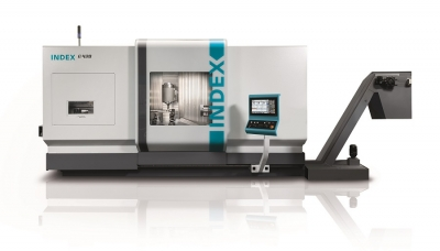 Index has announced the launch of its new G420 turn-mill center. The machine features identical 3,500 rpm twin spindles with 315-mm (400 ...