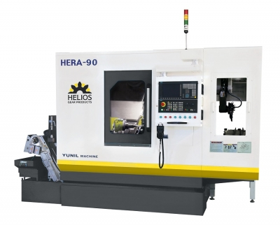 Helios Gear Products (formerly Koepfer America) now exclusively offers the Helios Hera 90 CNC gear hobbing machine from YG Tech for the N...