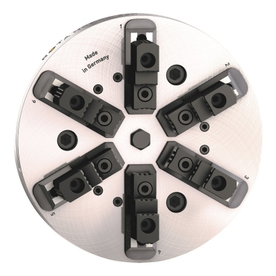 The Schunk ROTA NCR-A sealed 6-jaw pendulum compensation chuck has special seals at the jaw interface and the piston to keep the grease f...